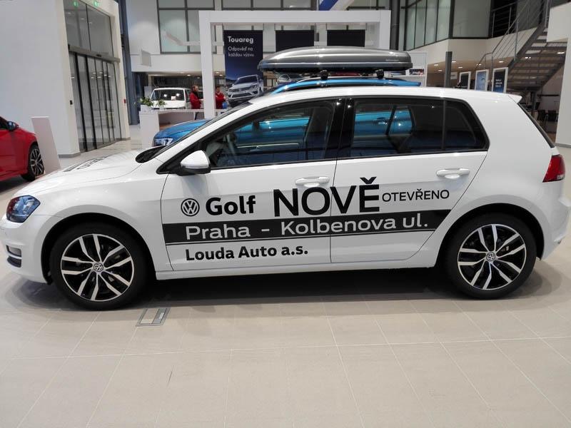 Louda Auto a.s. - grafický návr, výroba a aplikace polepů